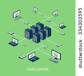 data isometric set with data... | Shutterstock .eps vector #334303595