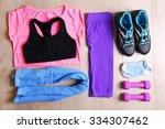 sport equipment for woman  on...   Shutterstock . vector #334307462