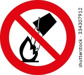 put out the fire is prohibited... | Shutterstock .eps vector #334307912