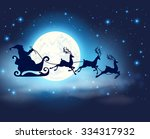 blue christmas background with... | Shutterstock .eps vector #334317932