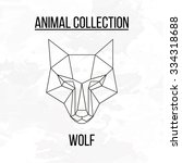 geometric vector animal wolf... | Shutterstock .eps vector #334318688