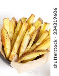 fast food. french fries on the... | Shutterstock . vector #334319606