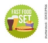 Flat Illustration Of Fast Food...