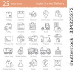 transportation  logistics and... | Shutterstock .eps vector #334325372