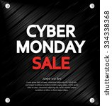 cyber monday sale background... | Shutterstock .eps vector #334338368