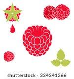 raspberries.vector illustration....   Shutterstock .eps vector #334341266