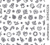 christmas symbols seamless... | Shutterstock .eps vector #334342226