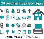 25 original business signs.... | Shutterstock .eps vector #33434662