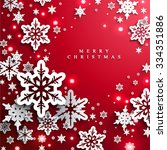christmas and new years red... | Shutterstock .eps vector #334351886