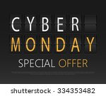 cyber monday  mechanical panel... | Shutterstock .eps vector #334353482