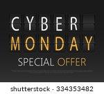 cyber monday  mechanical panel... | Shutterstock .eps vector #334353482