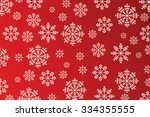 snowflakes on red background  ... | Shutterstock . vector #334355555