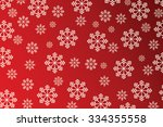 snowflakes on red background  ... | Shutterstock . vector #334355558