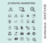 digital marketing  online... | Shutterstock .eps vector #334371428