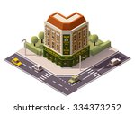 vector isometric icon or... | Shutterstock .eps vector #334373252