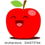 red apple cute cartoon   Shutterstock .eps vector #334375766