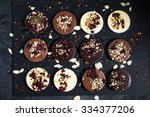 artisan chocolate with... | Shutterstock . vector #334377206