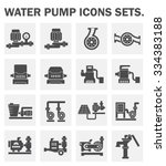 vector icon of water pump... | Shutterstock .eps vector #334383188