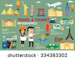 travel and tourism infographic... | Shutterstock .eps vector #334383302