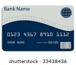 vector of a credit card | Shutterstock .eps vector #33438436