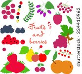 fruits and berries on a... | Shutterstock .eps vector #334410962
