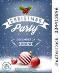 christmas party retro poster   Shutterstock .eps vector #334413896