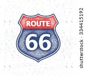 route 66 sign. vector... | Shutterstock .eps vector #334415192