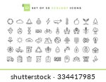 set of 50 ecology icons  thin... | Shutterstock .eps vector #334417985