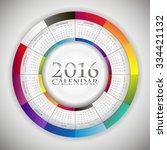 sweet paper calendar 2016 in... | Shutterstock .eps vector #334421132