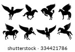 Pegasus Silhouettes On The...