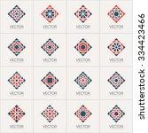 geometric logo template set.... | Shutterstock .eps vector #334423466