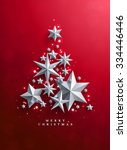 christmas and new years red... | Shutterstock .eps vector #334446446