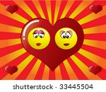 smiley in a heart | Shutterstock .eps vector #33445504