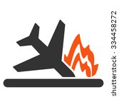 airplane crash vector icon.... | Shutterstock .eps vector #334458272
