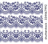 set of seamless lace borders | Shutterstock .eps vector #334467992