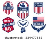 Set Of Veterans Day Labels...