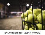 Paddle Tennis Basket In Court...