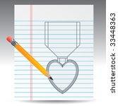Purple Heart Medal Drawn On...