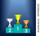 gold  silver and bronze trophy... | Shutterstock .eps vector #334486262