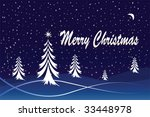 a winter christmas scene . can... | Shutterstock .eps vector #33448978