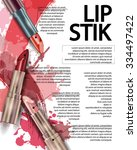 lipstick. beauty and cosmetics... | Shutterstock .eps vector #334497422