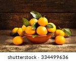 fresh mandarin oranges fruit... | Shutterstock . vector #334499636