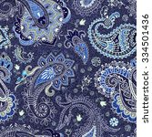 colorful paisley seamless... | Shutterstock .eps vector #334501436