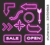 neon signs    Shutterstock .eps vector #334504868