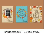collection of 3 creative... | Shutterstock .eps vector #334515932