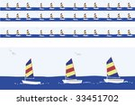 sailboats  motif  including ... | Shutterstock .eps vector #33451702