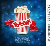 vector box with popcorn on a... | Shutterstock .eps vector #334517762
