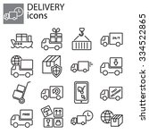web icons set   delivery ... | Shutterstock .eps vector #334522865