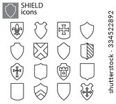 web icons set   shields | Shutterstock .eps vector #334522892