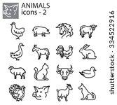web icons set   livestock  farm ...